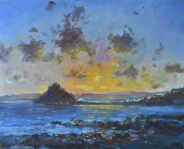 Stunning Richard Blowey Original Oil Painting St Michael's Mount Cornwall